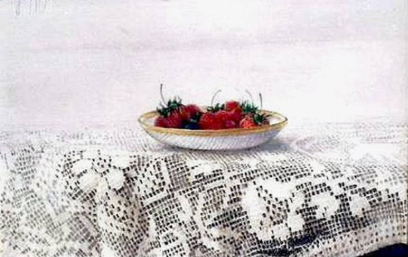 Strawberries on Lace